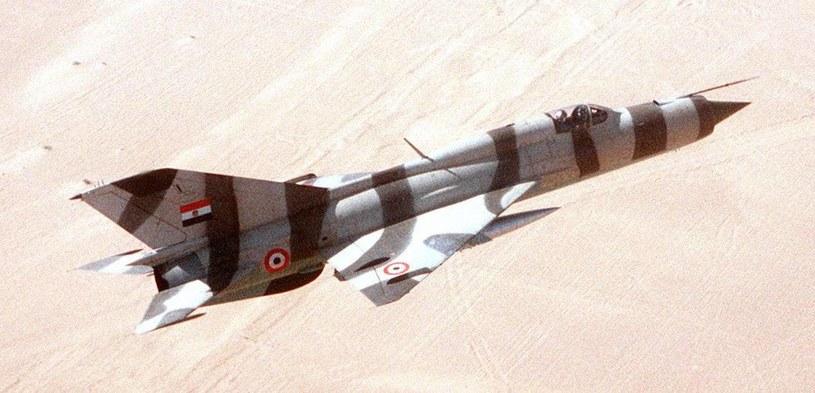 Egipski MiG-21PFM /Wikimedia Commons /INTERIA.PL/materiały prasowe