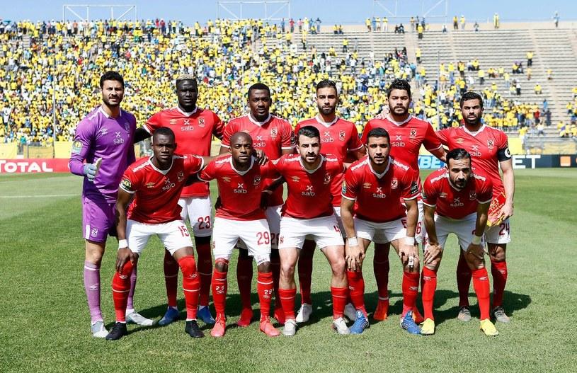Egipski zespół Al-Ahly 7 marca przez meczem ćwierćfinału Afrykańskiej Ligi Mistrzów z Mamelodi Sundowns z RPA. /AFP