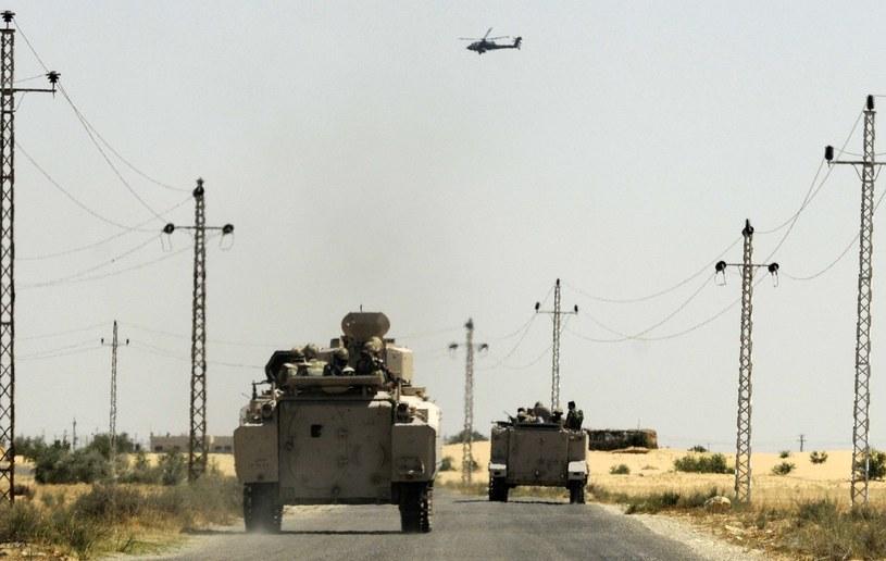 Egipskie czołgi na Synaju /AFP
