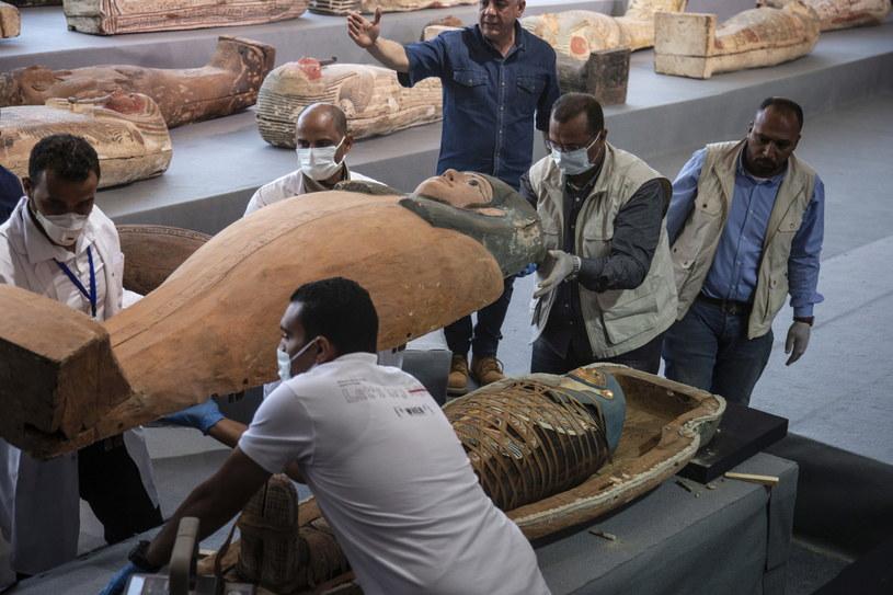 Egipt: Odkrycie ponad setki nienaruszonych starożytnych sarkofagów /MOHAMED HOSSAM /PAP/EPA