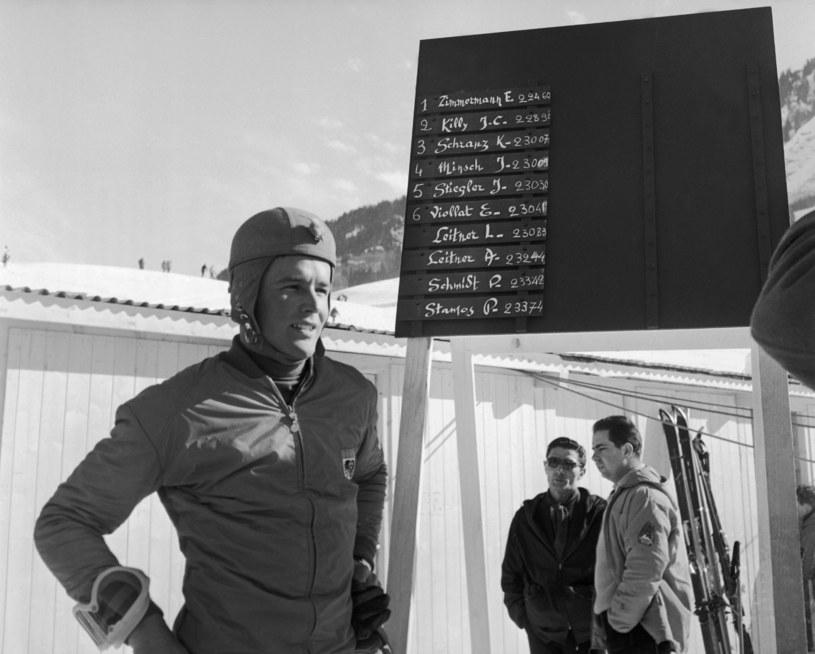 Egon Zimmerman podczas Zimowych Igrzysk Olimpijskich w Innsbrucku w 1964 roku /Keystone-France/Gamma-Keystone /Getty Images