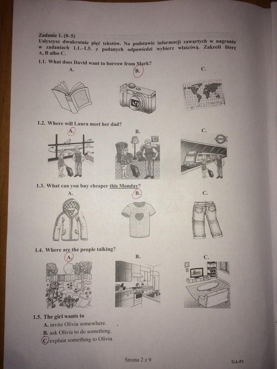 Egzamin gimnazjalny 2016. Język angielski - odpowiedzi /RMF FM