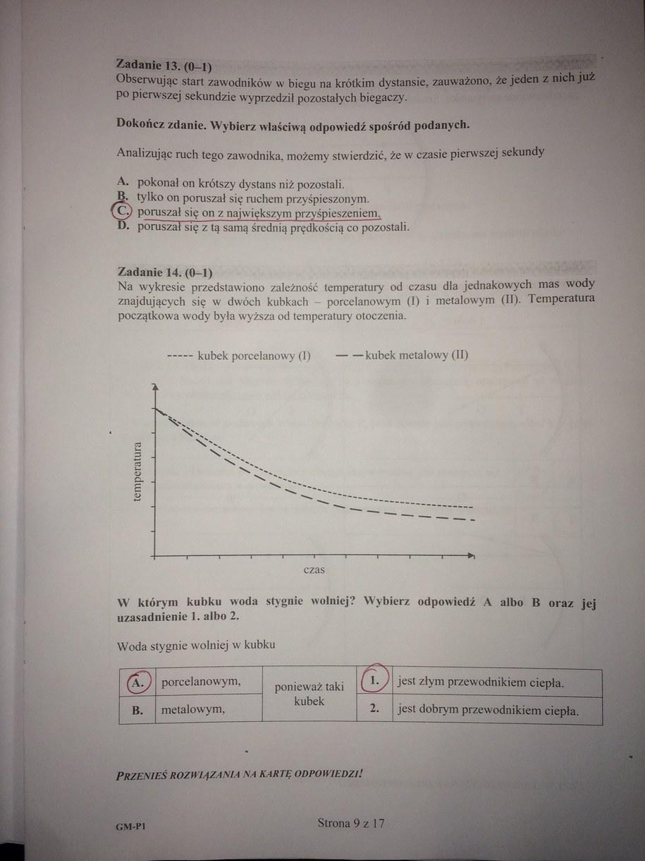 Egzamin gimnazjalny 2016. Propozycja odpowiedzi /RMF FM