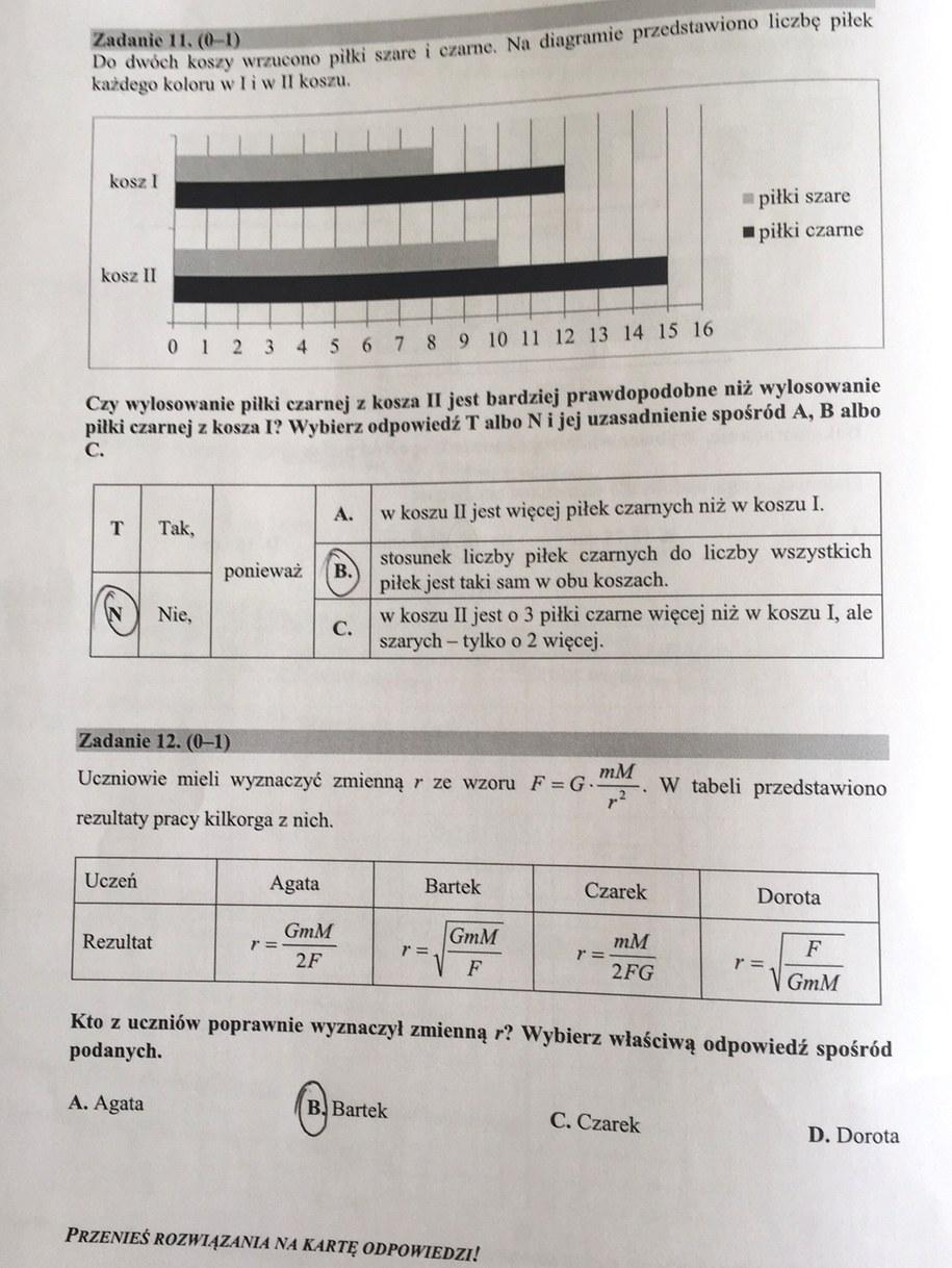 matematyka 2021 egzamin gimnazjalny odpowiedzi