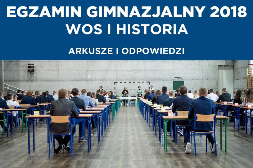 Egzamin gimnazjalny 2018: Historia i WOS. U nas arkusz i odpowiedzi /Daniel Dmitriew /Agencja FORUM