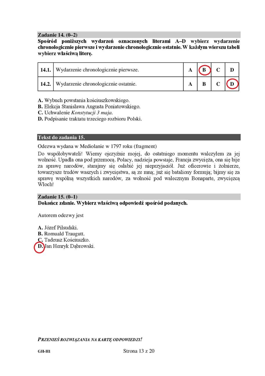 Egzamin gimnazjalny 2018. Odpowiedzi z WOS-u i historii /RMF24
