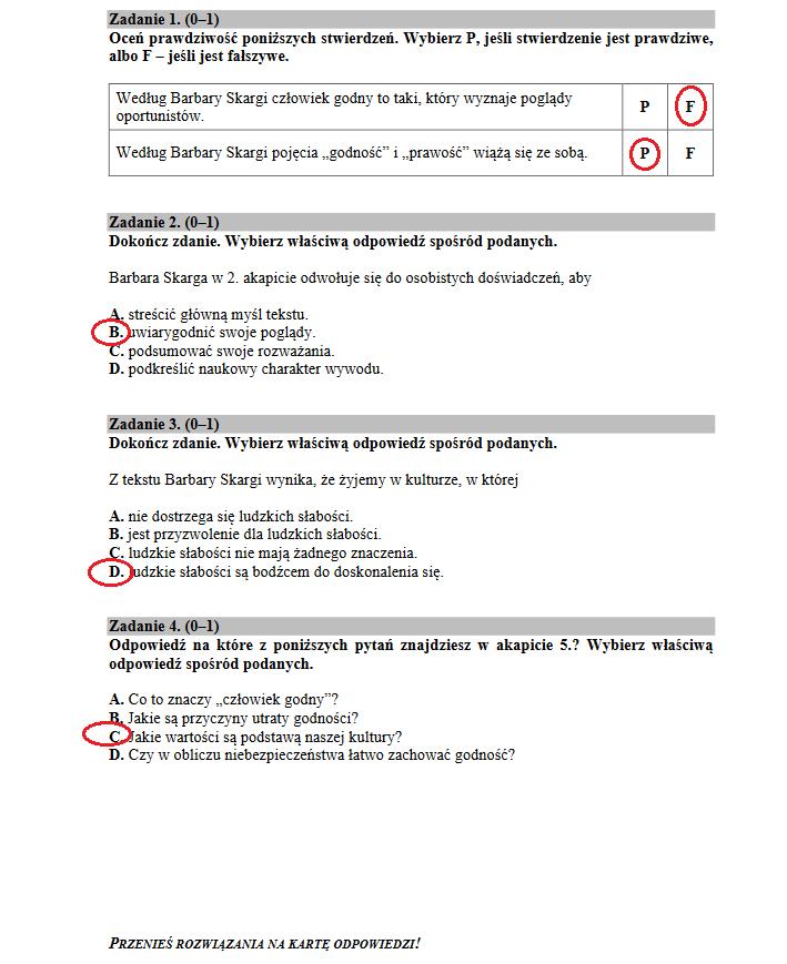 egzamin gimnazjalny 2018 odpowiedzi matematyka