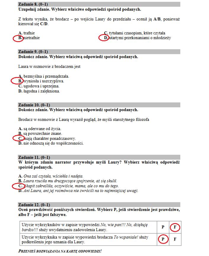 Egzamin gimnazjalny 2018. Polski /INTERIA.PL