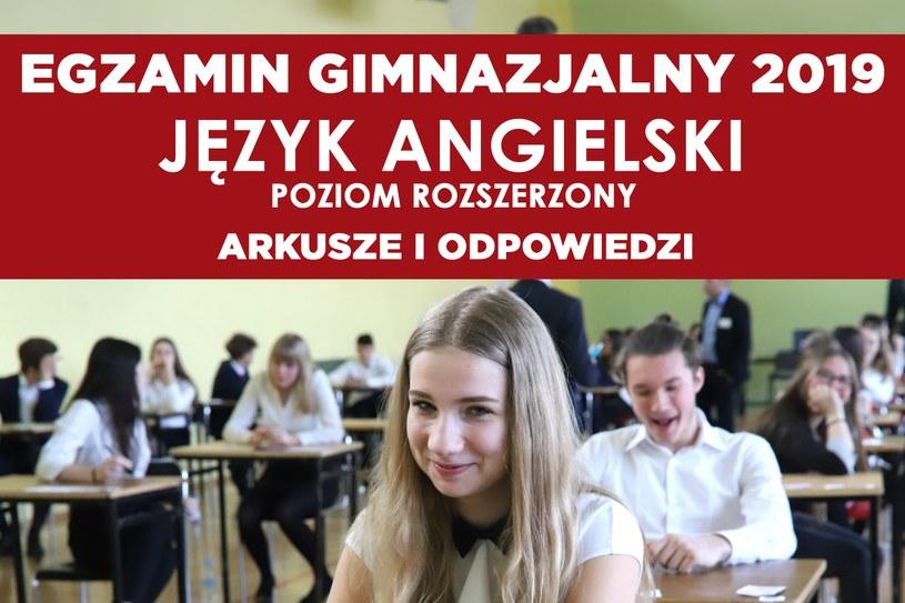 Egzamin gimnazjalny 2019 - język angielski (poziom rozszerzony) /Marian Zubrzycki /Agencja FORUM