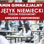 Egzamin gimnazjalny 2019. Język niemiecki arkusz CKE i odpowiedzi