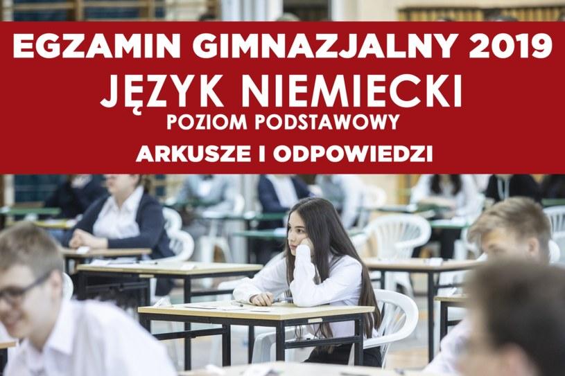 Egzamin gimnazjalny 2019. Język niemiecki / fot. Krzysztof Mystkowski/KFP /Reporter
