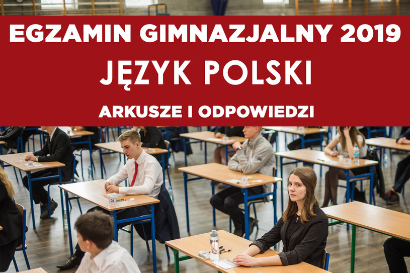 Egzamin gimnazjalny 2019 język polski /Daniel Dmitriew /Agencja FORUM