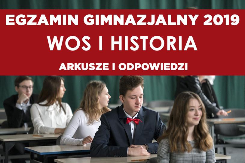 Egzamin gimnazjalny 2019 - WOS i historia /Michał Kość /Agencja FORUM