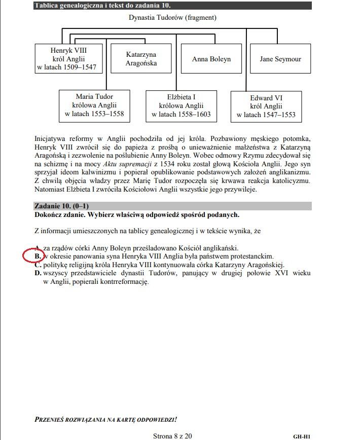 Egzamin gimnazjalny 2019 z historii i wiedzy o społeczeństwie /