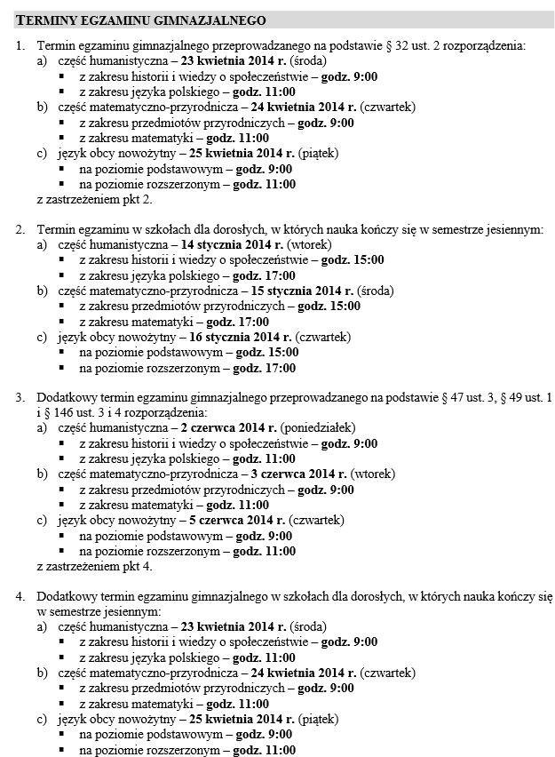 Egzamin gimnazjalny w 2014 roku /CKE /INTERIA.PL
