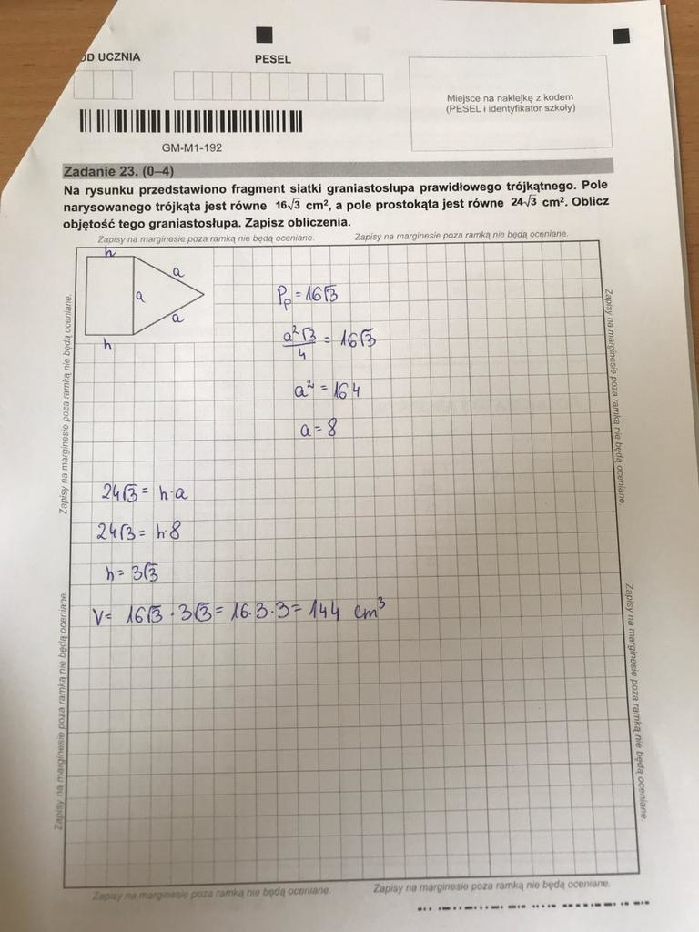 Egzamin gimnazjalny z matematyki. Odpowiedź /RMF FM