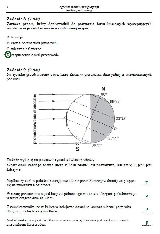 Egzamin maturalny z geografii. Poziom podstawowy. Arkusz i rozwiązania /INTERIA.PL