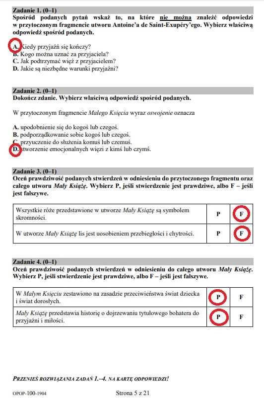 Egzamin ósmoklasisty 2019 - język polski, str. 5 /INTERIA.PL