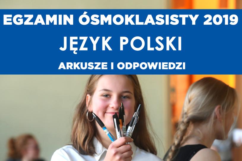 Egzamin ósmoklasisty 2019 - język polski /Marian Zubrzycki /Agencja FORUM