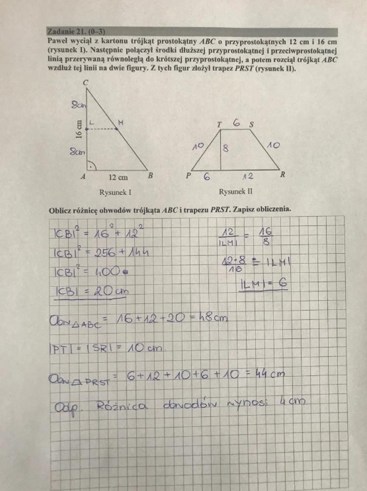egzamin ósmoklasisty matematyka odpowiedzi rmf