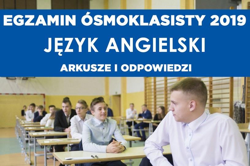 Egzamin ósmoklasisty 2019 /Anna Bobrowska/KFP /Reporter