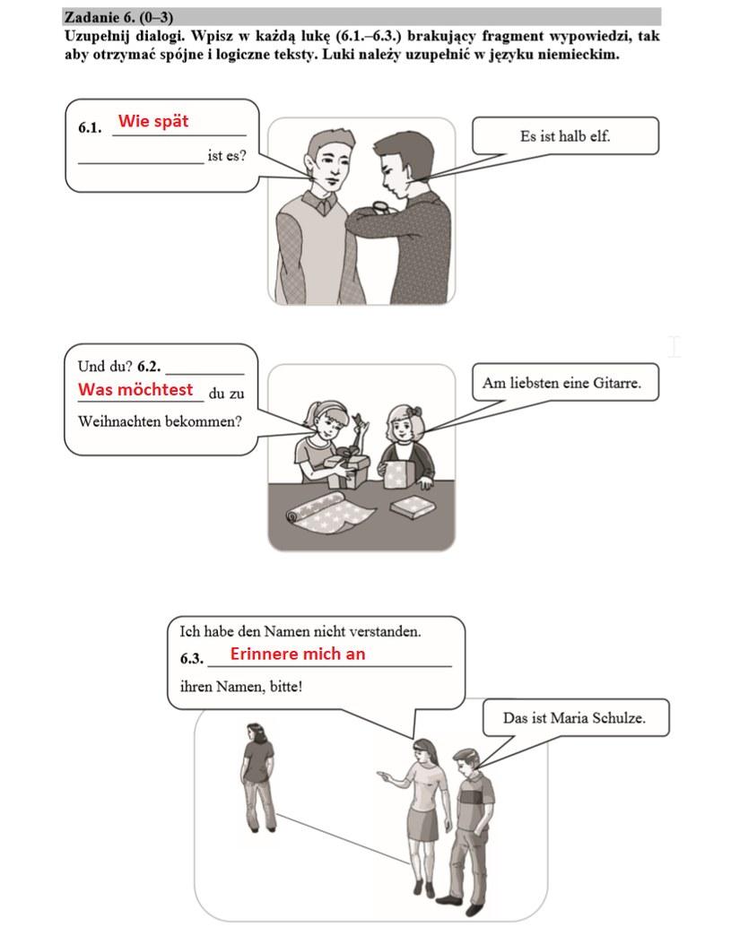 Egzamin ósmoklasisty 2020: Język niemiecki