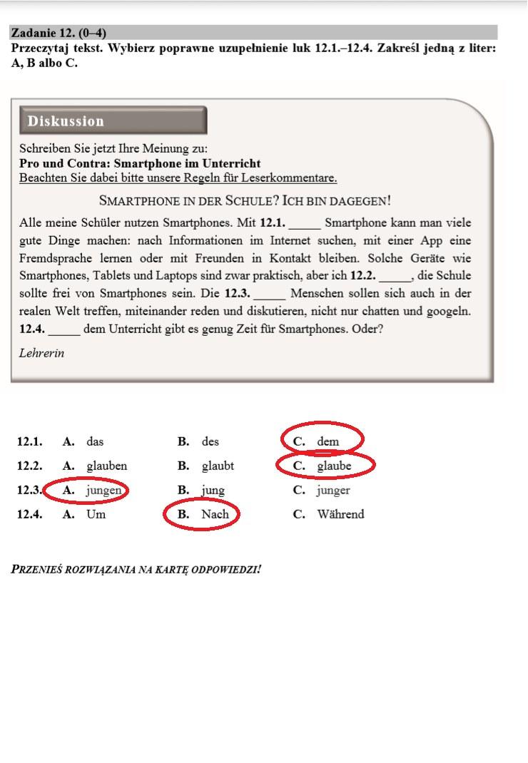 Egzamin ósmoklasisty 2020: Język niemiecki /INTERIA.PL