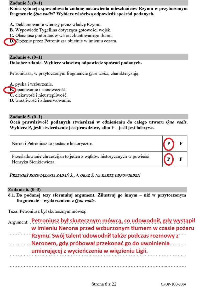 EGZAMIN ÓSMOKLASISTY 2020: Język polski - arkusz CKE i odpowiedzi /INTERIA.PL
