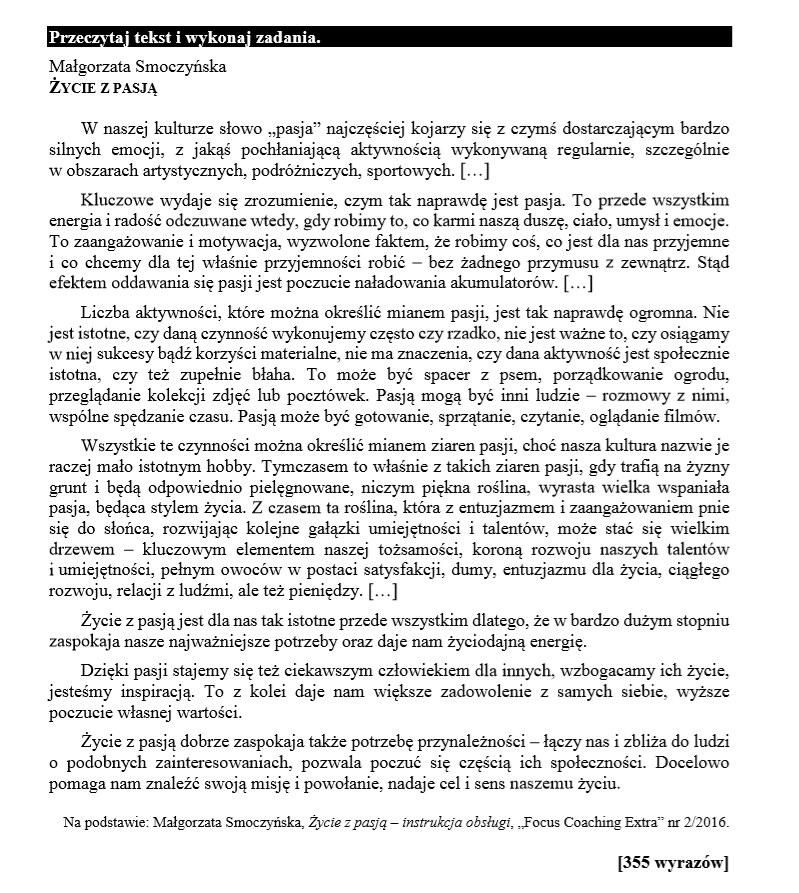 EGZAMIN ÓSMOKLASISTY 2020: Język polski - arkusz CKE i odpowiedzi