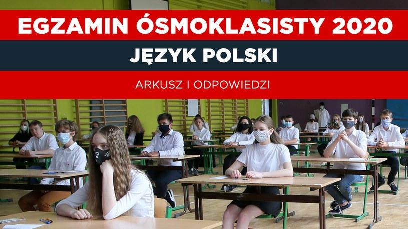 Egzamin ósmoklasisty 2020 język polski; autor zdjęcia Piotr Molecki/ East News /INTERIA.PL