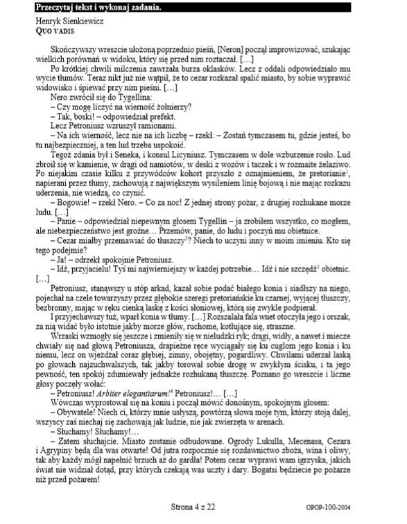 EGZAMIN ÓSMOKLASISTY 2020: Język polski /CKE