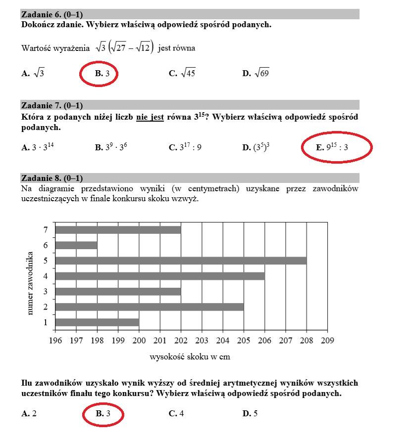 Egzamin ósmoklasisty 2020. Matematyka. Arkusz CKE i rozwiązania /INTERIA.PL
