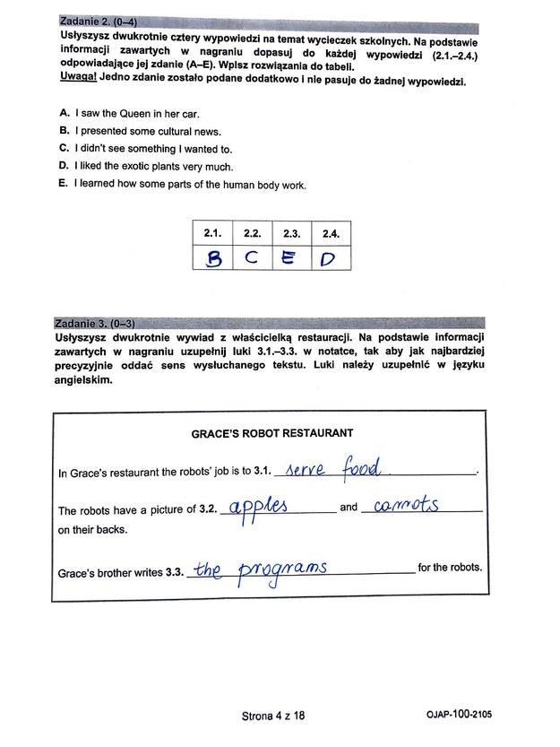 Egzamin ósmoklasisty 2021. Język angielski /CKE /RMF24