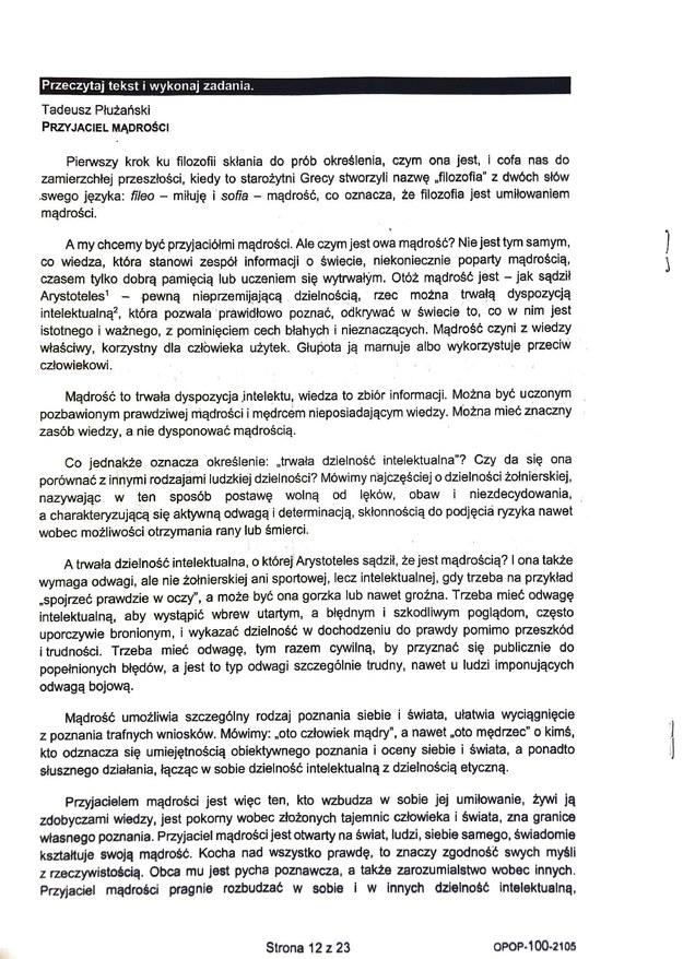 Egzamin ósmoklasisty 2021. Odpowiedzi z języka polskiego /CKE