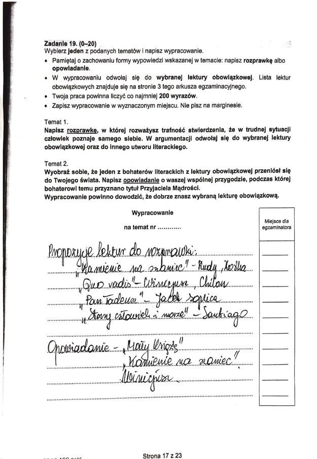 Egzamin ósmoklasisty 2021. Odpowiedzi z języka polskiego /CKE /RMF FM