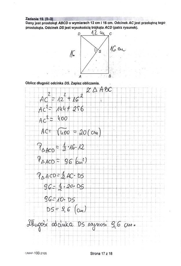 Egzamin ósmoklasisty 2021. Odpowiedzi z matematyki /CKE /RMF FM