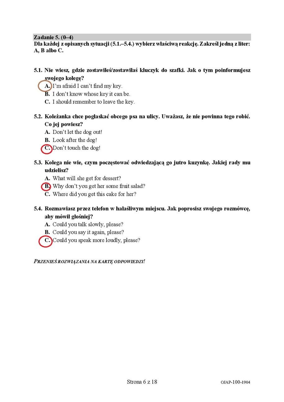 Egzamin ósmoklasisty. Język angielski /