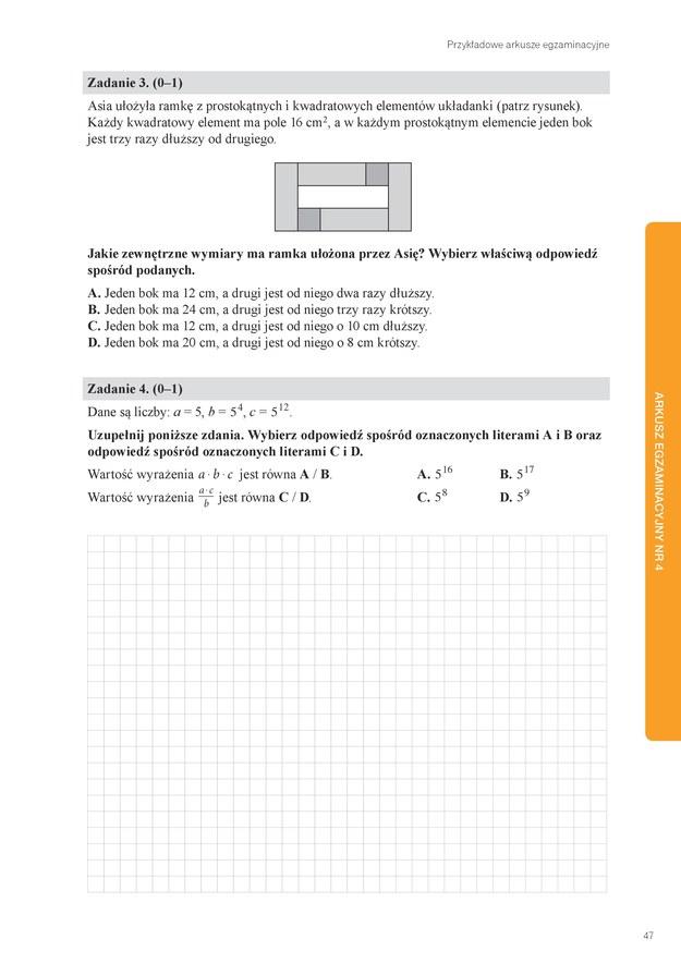 Egzamin ósmoklasisty: Przykładowy arkusz z matematyki /