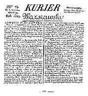 """Egzemplarz """"Kuriera Warszawskiego"""" z 1824 r. /Encyklopedia Internautica"""