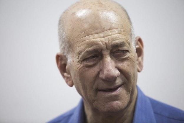 Ehud Olmert /HEIDI LEVINE / POOL /PAP/EPA