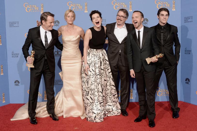 """Ekipa """"Breaking Bad"""" cieszy się z wygranej /Kevin Winter /Getty Images"""