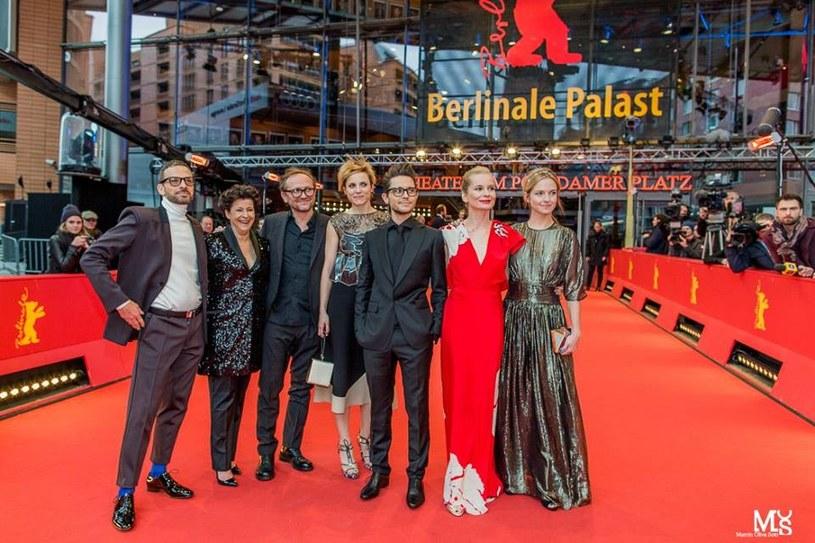 """Ekipa filmu """"Zjednoczone Stany Miłości"""" na czerwonym dywanie Berlinale, 20 lutego 2016 roku /Facebook"""