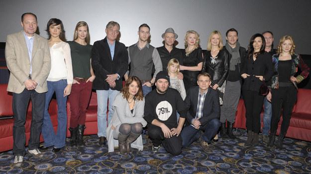 """Ekipa """"Galerii"""" podczas promującej serial konferencji prasowej / fot. Kurnikowski /AKPA"""