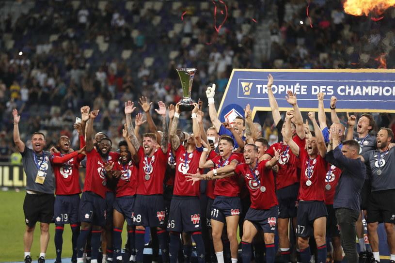 Ekipa Lille celebruje zdobycie Superpucharu Francji AD 2021 /PAP
