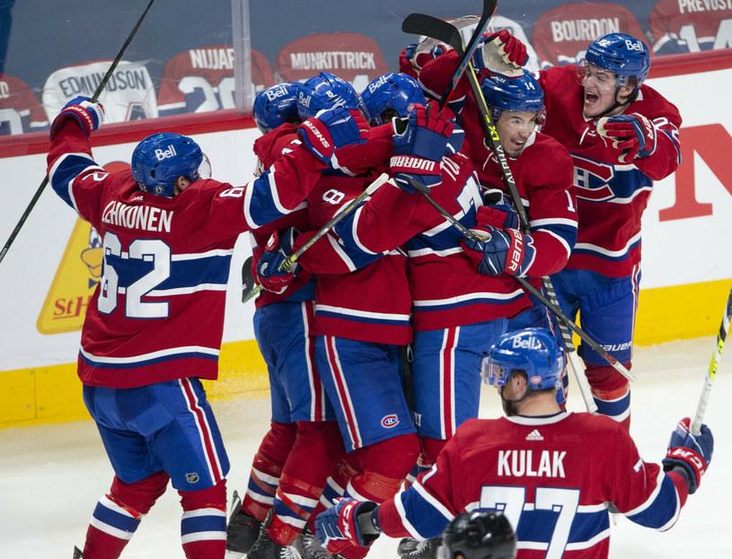 Ekipa Montreal Canadiens awansowała do półfinałów rundy play-off po pokonaniu Winnipeg Jets /The Canadian Press/Associated Press/East News /East News