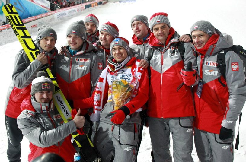 Ekipa polskich skoczków ma w tym sezonie powody do wielkiej radości /fot. Grzegorz Momot /PAP