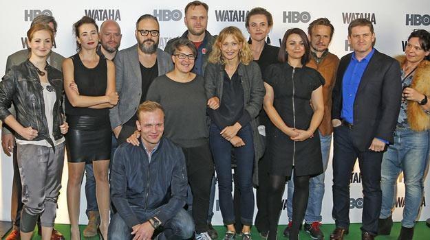 """Ekipa serialu """"Wataha"""" podczas środowej konferencji prasowej. /AKPA"""