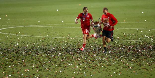 Ekipa z Monachium pokonała w Lizbonie Paris Saint-Germain 1:0, a strzelcem jedynego gola był Coman /Matt Childs / POOL /PAP/EPA