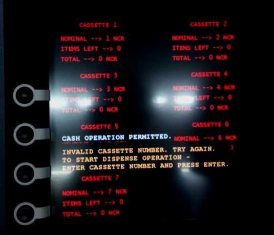 Ekran zainfekowanego bankomatu. Źródło: Kaspersky Lab. /materiały prasowe