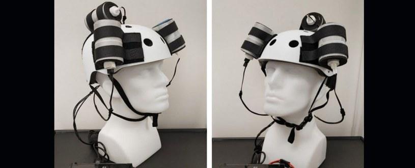 Eksperymentalny hełm do walki z glejakiem mózgu /materiały prasowe